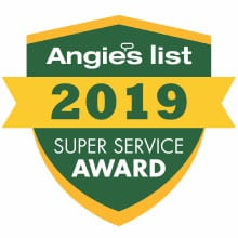 MCG Construction Angies List Service Award 2019